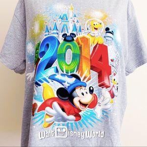 Disney World Resort Disneyland 2014 T-Shirt Mickey